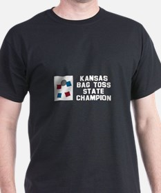 Kansas Bag Toss State Champio T-Shirt