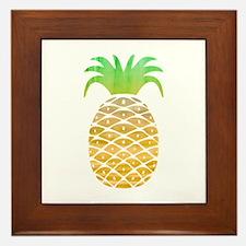 Colorful Pineapple Framed Tile