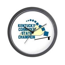 Kentucky Cornhole State Champ Wall Clock
