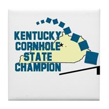 Kentucky Cornhole State Champ Tile Coaster