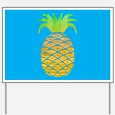 Colorful Pineapple Yard Sign