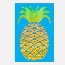 Colorful Pineapple Postcards (Package of 8)
