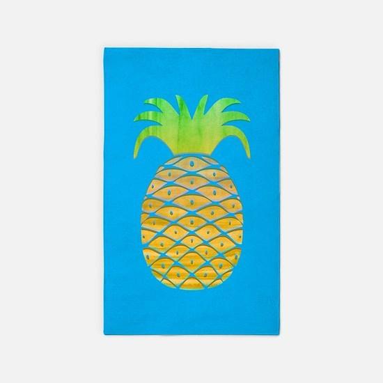 Colorful Pineapple Area Rug