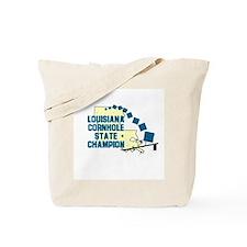 Louisiana Cornhole State Cham Tote Bag