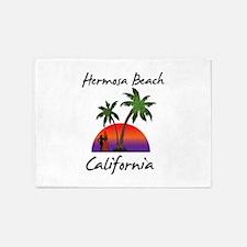 Hermosa Beach California 5'x7'Area Rug