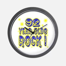 92 Year Olds Rock ! Wall Clock