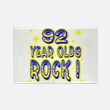 92 Year Olds Rock ! Rectangle Magnet