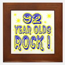 92 Year Olds Rock ! Framed Tile
