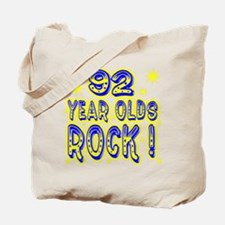 92 Year Olds Rock ! Tote Bag