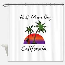 Half Moon Bay California Shower Curtain