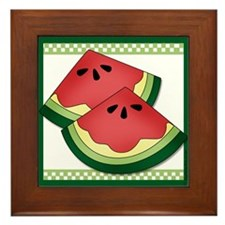 Matching Watermelon Framed Tile