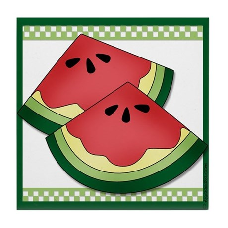 Matching Watermelon Tile Coaster