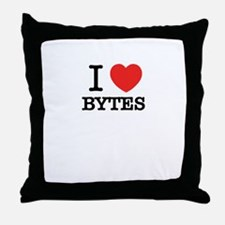 I Love BYTES Throw Pillow