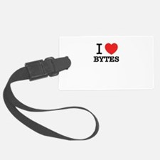 I Love BYTES Luggage Tag