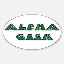 Alpha Geek Oval Decal