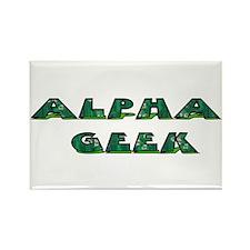 Alpha Geek Rectangle Magnet