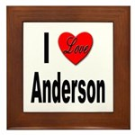 I Love Anderson Framed Tile
