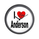 I Love Anderson Wall Clock