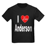 I Love Anderson (Front) Kids Dark T-Shirt