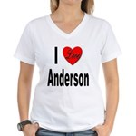I Love Anderson (Front) Women's V-Neck T-Shirt