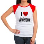 I Love Anderson Women's Cap Sleeve T-Shirt