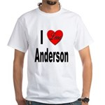 I Love Anderson (Front) White T-Shirt