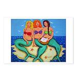 Mermaids Merbabes Beach Postcards (Package of 8)