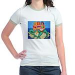 Mermaids Merbabes Beach Jr. Ringer T-Shirt