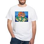 Mermaids Merbabes Beach White T-Shirt