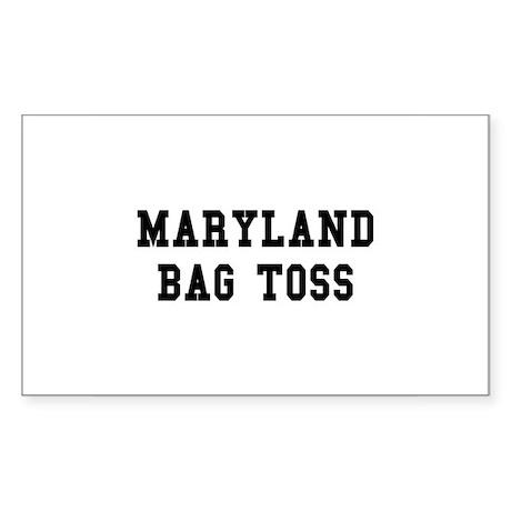 Maryland Bag Toss Rectangle Sticker