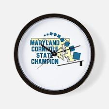 Maryland Cornhole State Champ Wall Clock