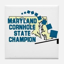 Maryland Cornhole State Champ Tile Coaster