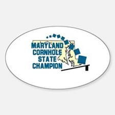 Maryland Cornhole State Champ Oval Decal