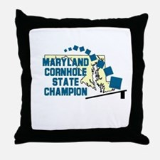 Maryland Cornhole State Champ Throw Pillow