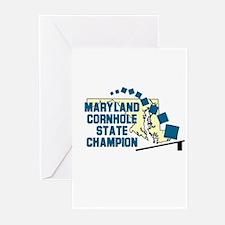 Maryland Cornhole State Champ Greeting Cards (Pk o