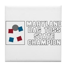 Maryland Bag Toss State Champ Tile Coaster