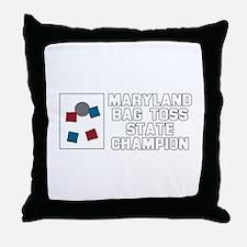 Maryland Bag Toss State Champ Throw Pillow