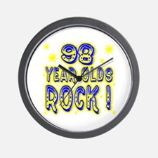 98 Year Olds Rock ! Wall Clock