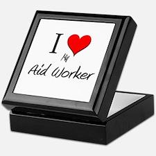I Love My Aid Worker Keepsake Box