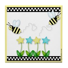 Buzzin' Bees Tile Coaster