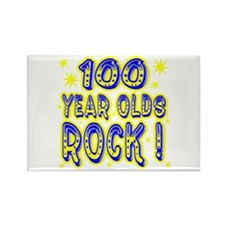 100 Year Olds Rock ! Rectangle Magnet (10 pack)