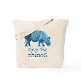 Rhinoceros Regular Canvas Tote Bag