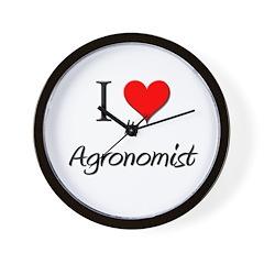 I Love My Agronomist Wall Clock
