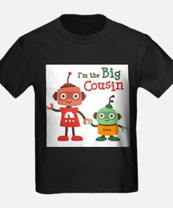 I am the big cousin - Retro Robo T-Shirt