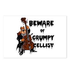 Grumpy Cellist Postcards (Package of 8)