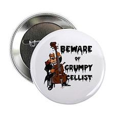 """Grumpy Cellist 2.25"""" Button"""