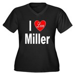 I Love Miller (Front) Women's Plus Size V-Neck Dar
