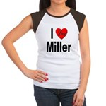 I Love Miller (Front) Women's Cap Sleeve T-Shirt