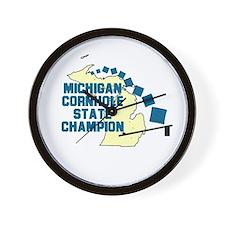 Michigan Cornhole State Champ Wall Clock