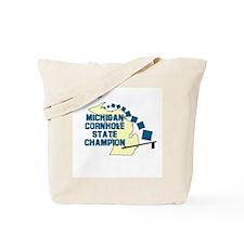 Michigan Cornhole State Champ Tote Bag
